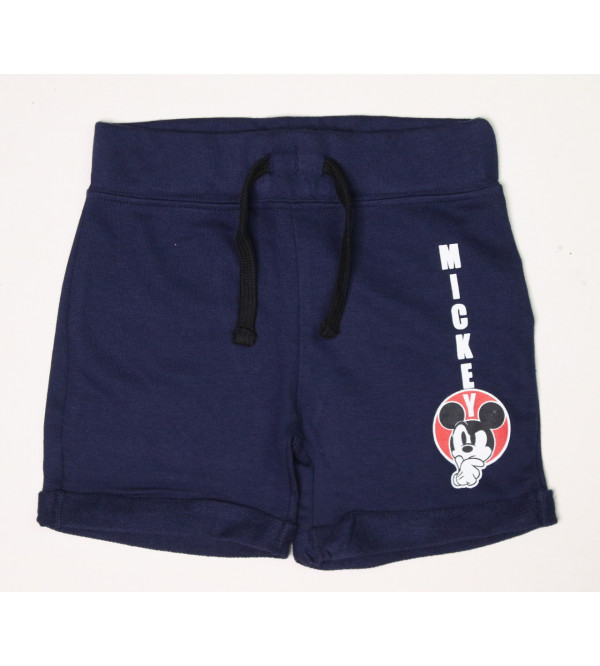 Character Printed Boys French Terry Knit Shorts