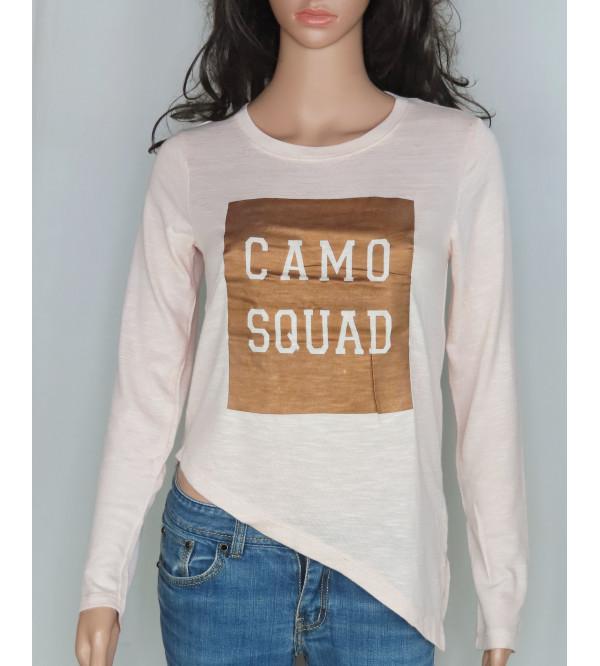 Camo Squad Girls Asymmetric hem T-Shirt