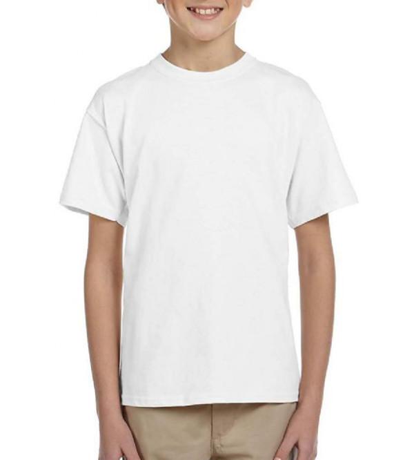 Boys Short Sleeve White T Shirt