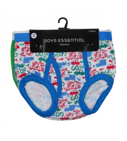 Character Printed Boys 3 pcs pack Briefs