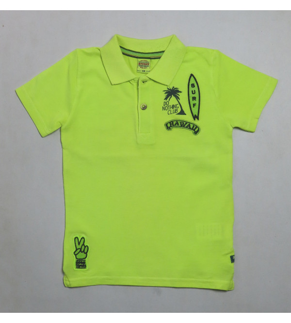 Boys Applique Collar T Shirt