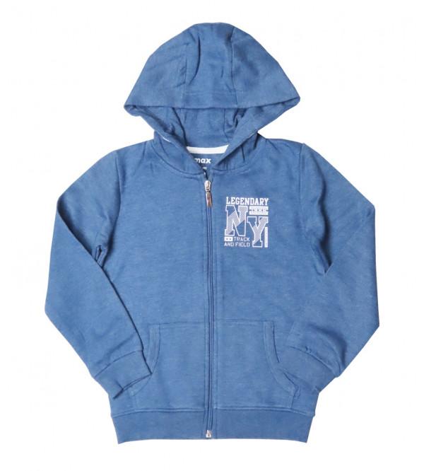 Boys Full Zipper Sweatshirt With Hoodie