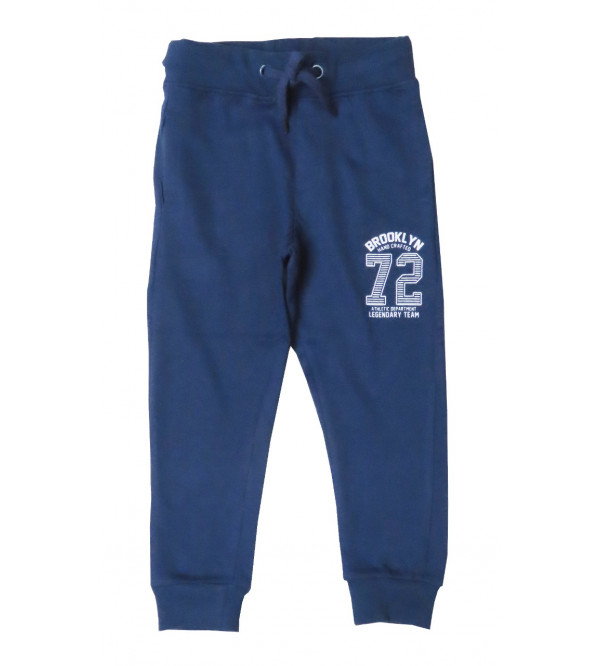 Boys Printed French Terry Knit Joggers
