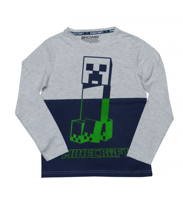Minecraft Older Boys Long Sleeve Printed T Shirts