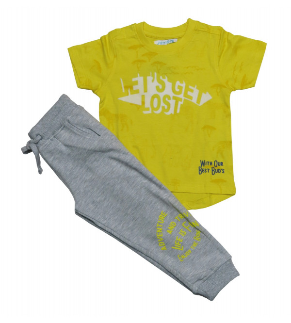 Boys 2 pcs Set (Printed T Shirt + Jogger Pant)