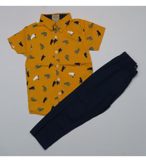 Boys 2 pcs Set Woven Shirt + Woven Pant