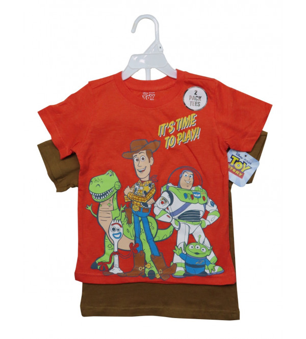 Toy Story Boys  T Shirts 2 Pc pack