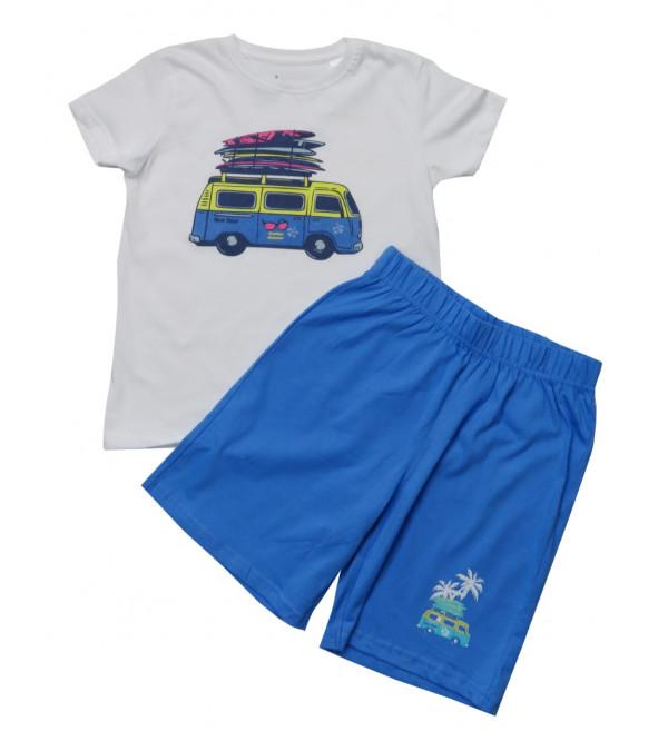 Boys Printed Shorty Sets