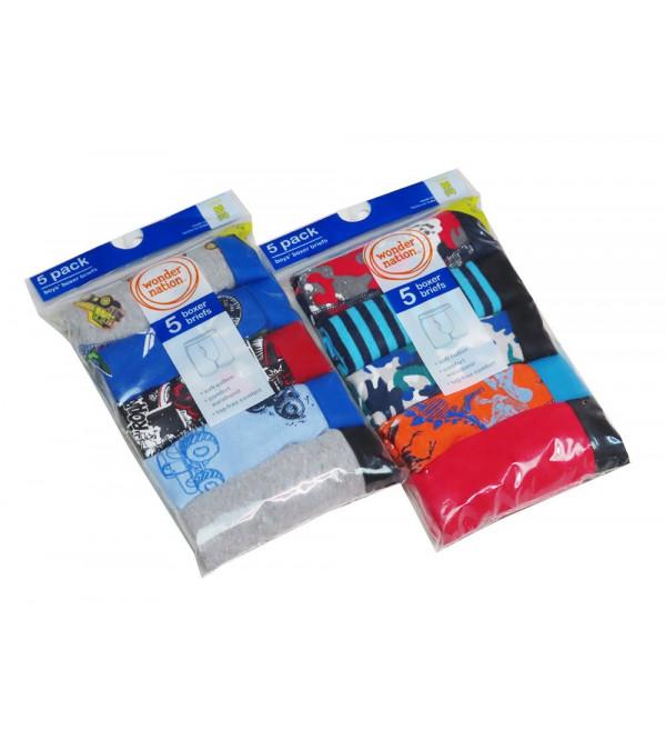Boys 5 Pack Boxer Shorts
