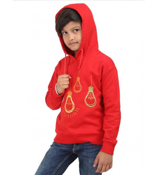 Boys Hooded Full Zipper Sweatshirts