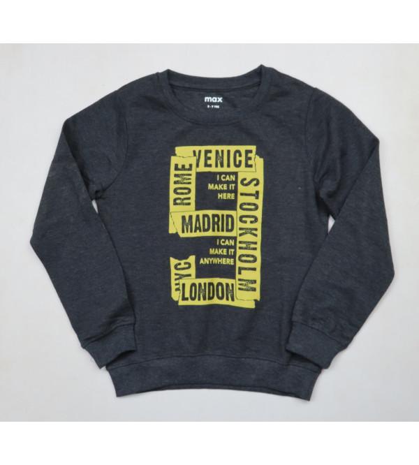 Boys Printed Pullover Sweatshirt