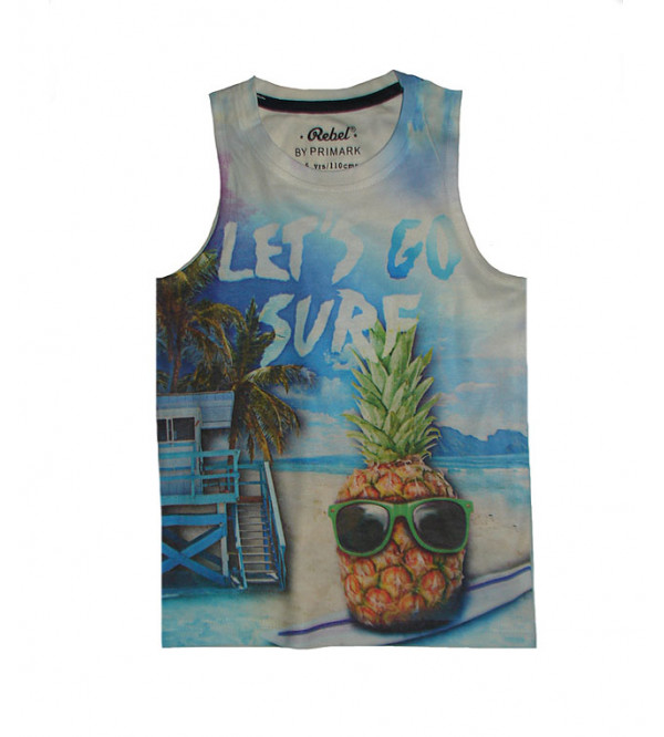 Boys Sublimation Printed Muscle T Shirt