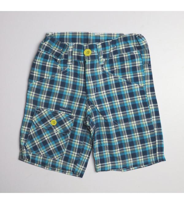 Younger Boys Checked Woven Shorts