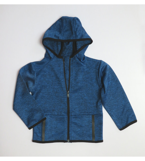 Younger Boys Full Zipper Sweatshirt With Hoodie