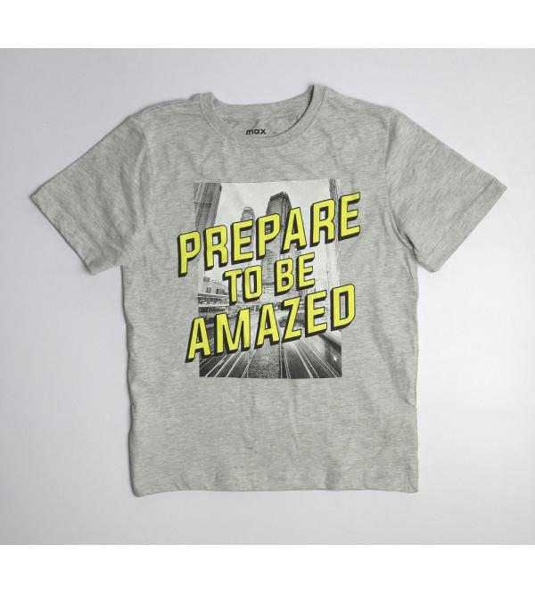 Contrast Printed Older Boys  T Shirt