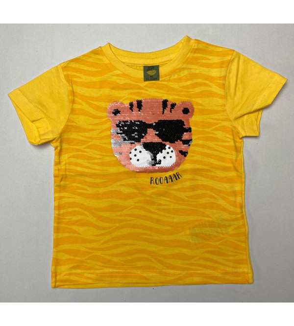 The Lion Sequinned Boys T Shirt