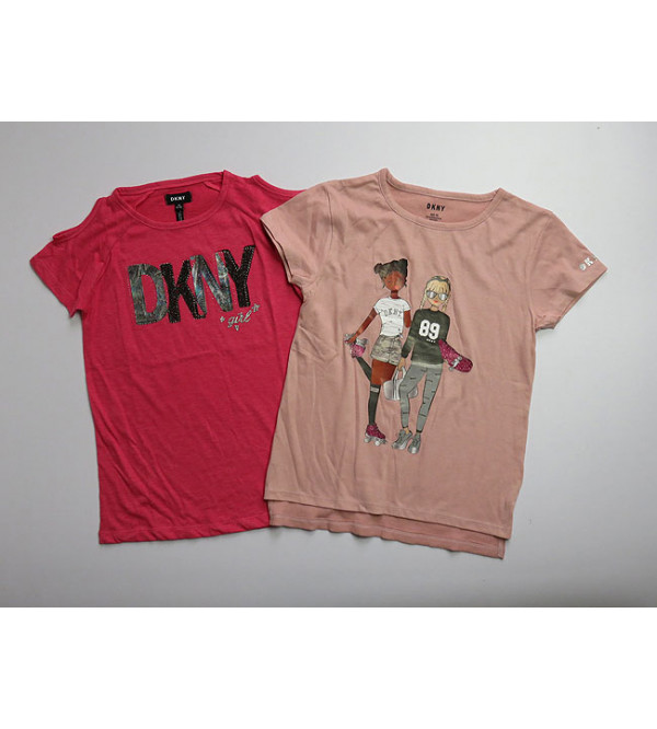 DKNY Girls Printed T Shirts Assorted