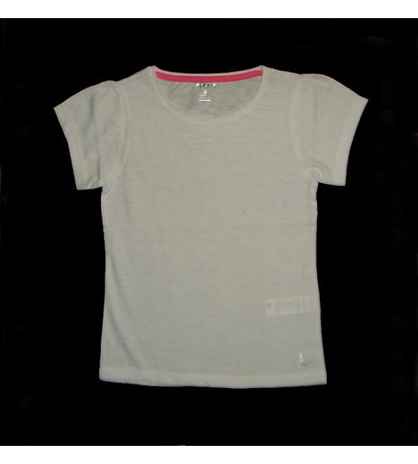 Girls Slub Knit T Shirt