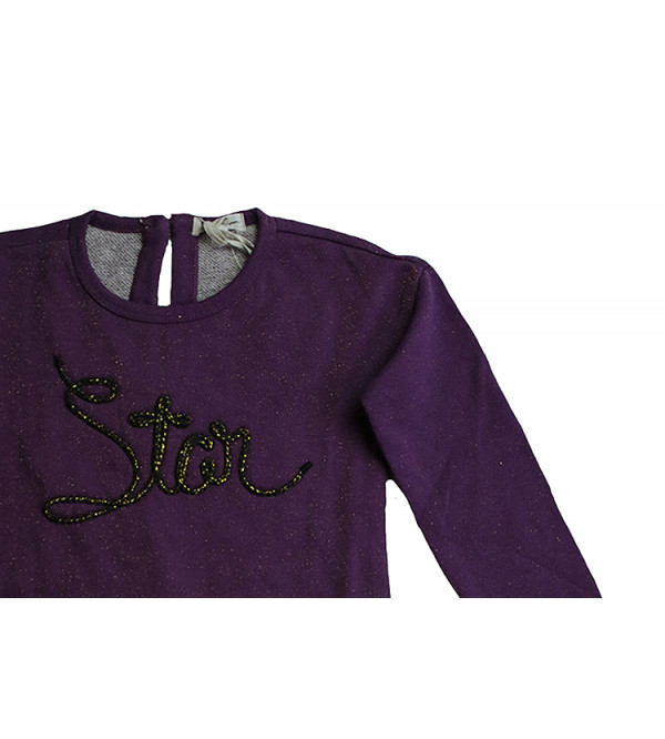 Girls Pullover Sweatshirt With Applique