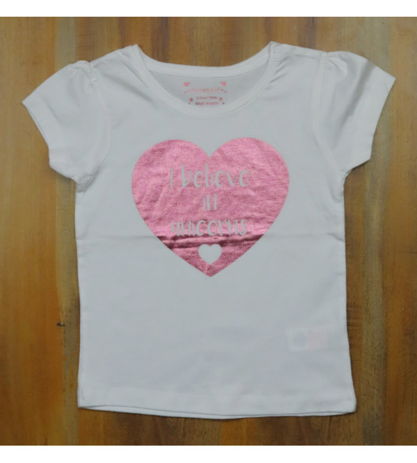 Girls Glitter Printed T Shirt