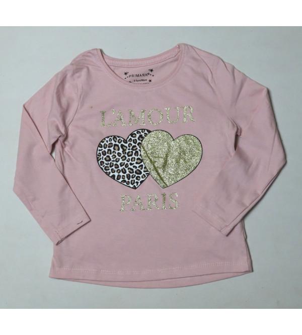 Girls Glitter Printed T Shirts