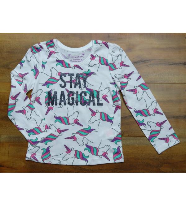 Cool Lion Girls Glitter Printed T Shirts