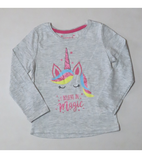 Magic Glitter Printed Girls T Shirt