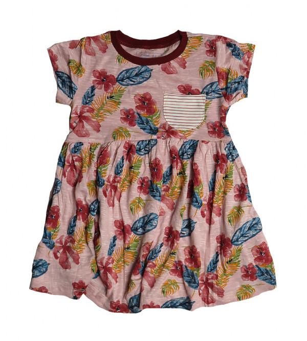 Girls Printed Knit Dress