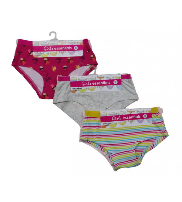 Girls Printed 3 pcs pack Briefs