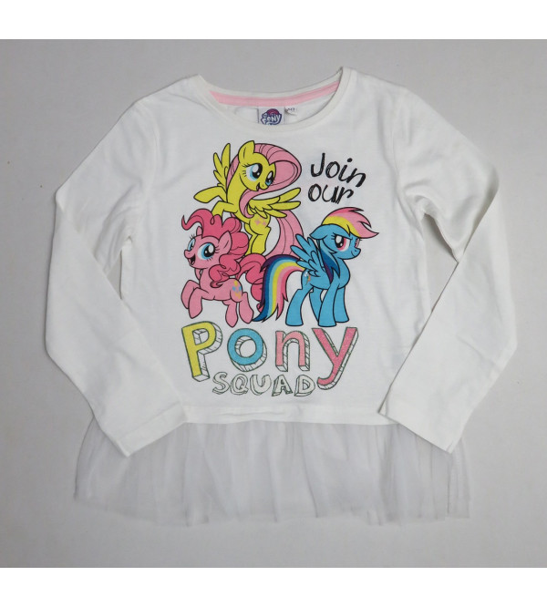 LiTTLE PONY Girls Fancy T Shirt With Mesh Trims