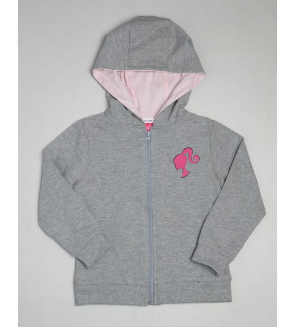 Barbie Girls Hooded Full Zipper Sweatshirt