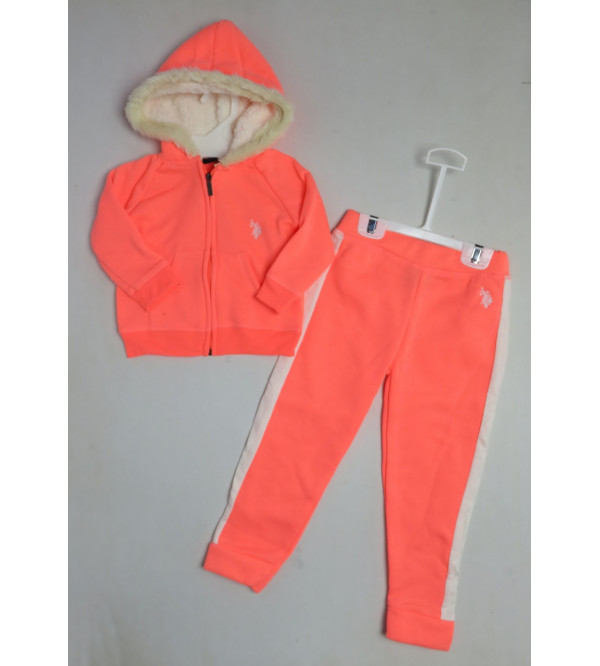 U S POLO ASSN Girls Outerwear Jogging Set