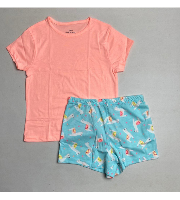 Girls Printed Shorty Pyjama Sets (Packaged)