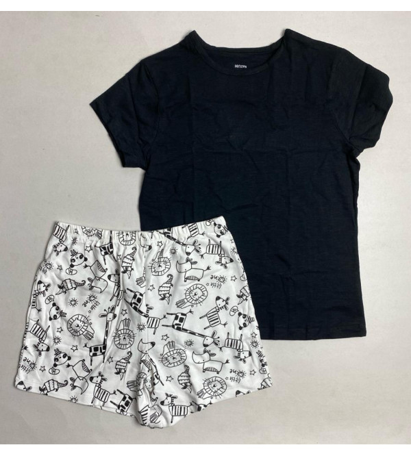 Girls Printed Shorty Pyjama Set (Packaged)