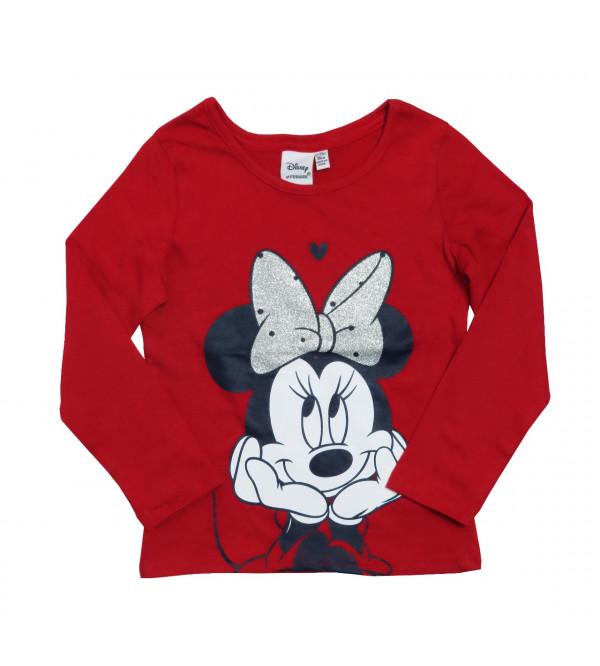 Minnie Mouse Glitter Printed Girls T Shirt