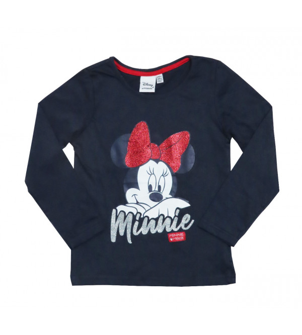 Minnie Mouse Glitter Printed Girls T Shirt