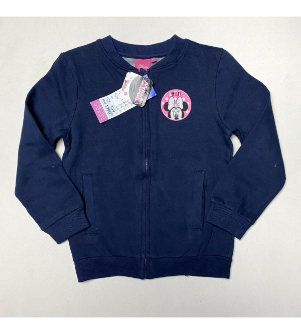 Minnie Mouse Girls Full Zipper Sweatshirt