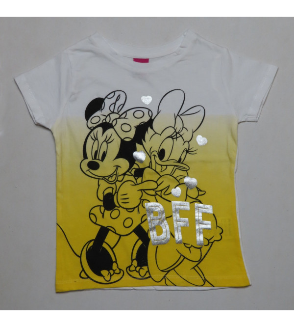 Mickey Mouse Girls Dip Dyed T Shirt