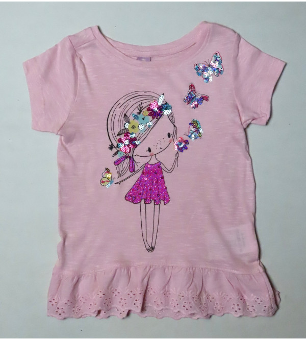 Girls Sequinned Fancy Top