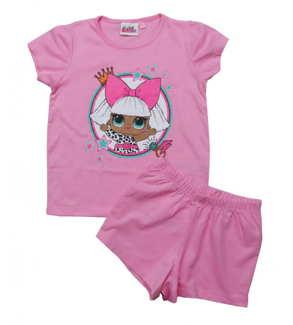 Girls Printed Shorty Pyjama Set