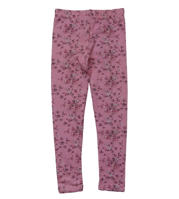 Girls Fleece Printed Stretch Leggings