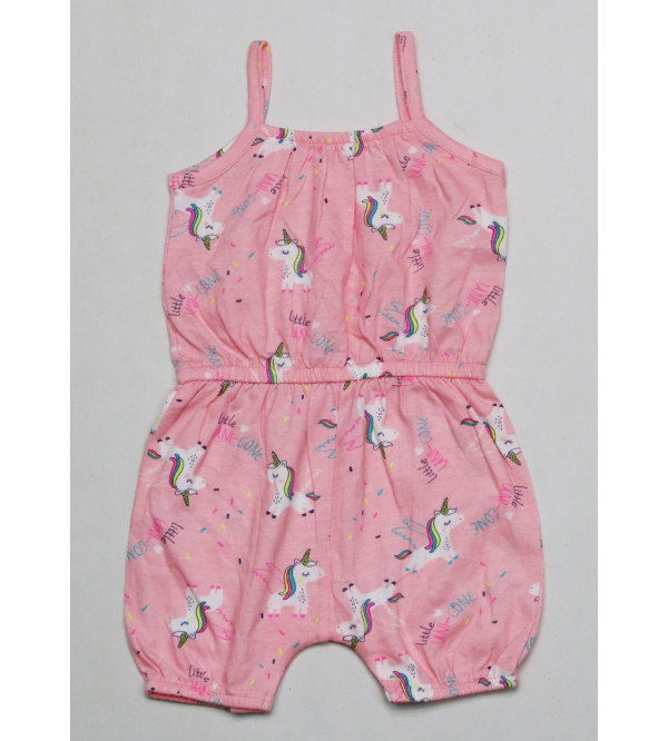 All over printed Baby Girls Dungaree