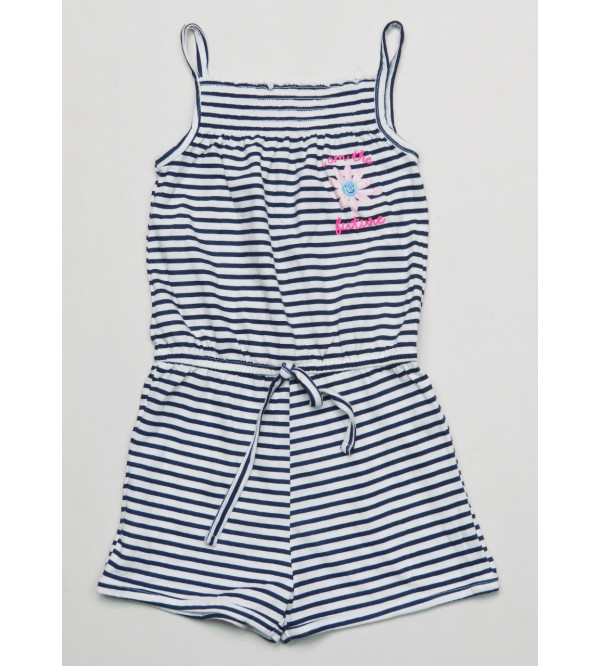 All over printed Girls Dungaree