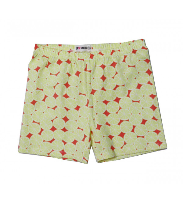Girls Printed Knit Stretch Shorts