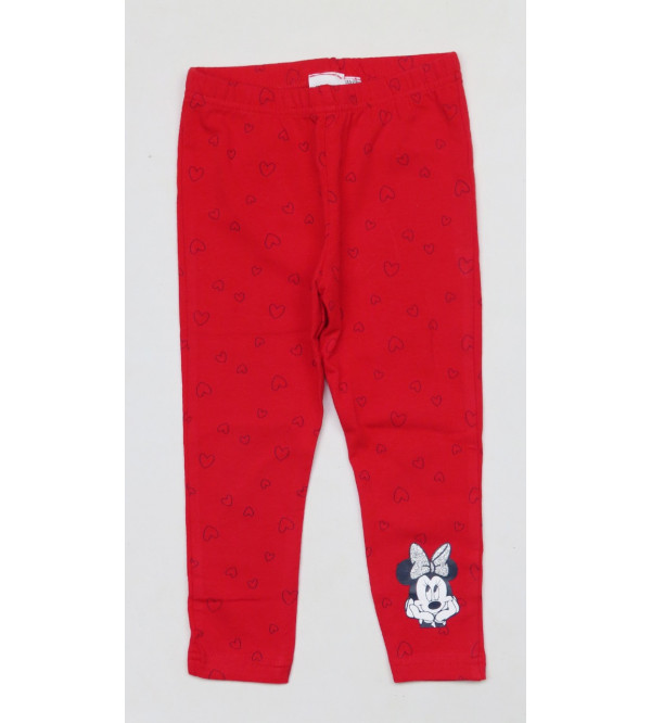 Minnie Mouse Printed Girls Stretch Leggings