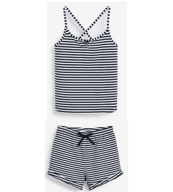 next Girls Strappy Top and Striped Shorts Set
