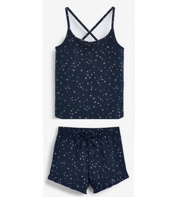 next Girls Strappy Top and Printed Shorts Set