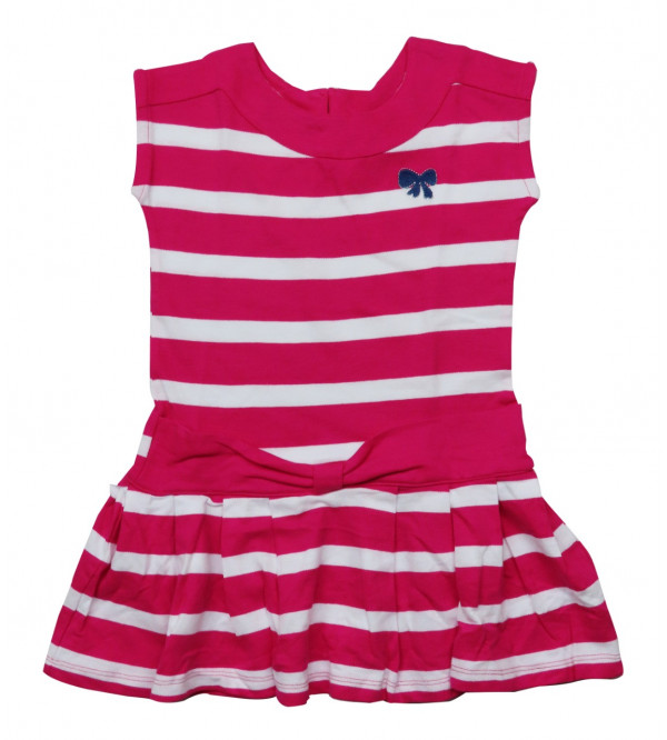 Girls Striped Knit Dress