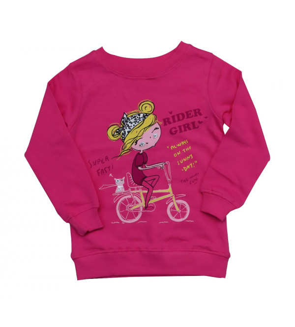 Rider Girls Printed Pullover Sweatshirt