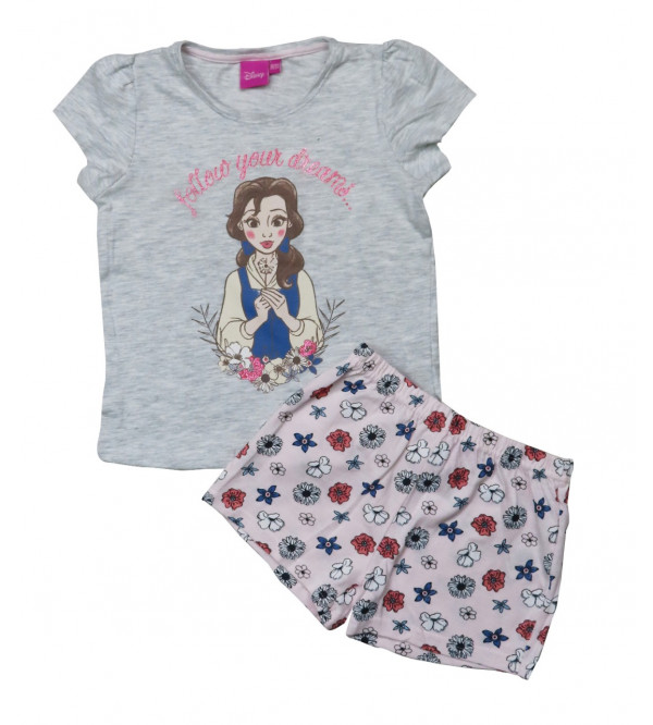 DiSNEY Girls Printed Shorty Pyjama Set